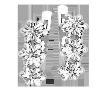 Серьги серебряные Цветы 41246
