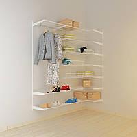 Угловая гардеробная система Кольчуга Система хранения (консоль, стеллаж)
