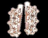 Серьги серебряные Цветы 41246, фото 2