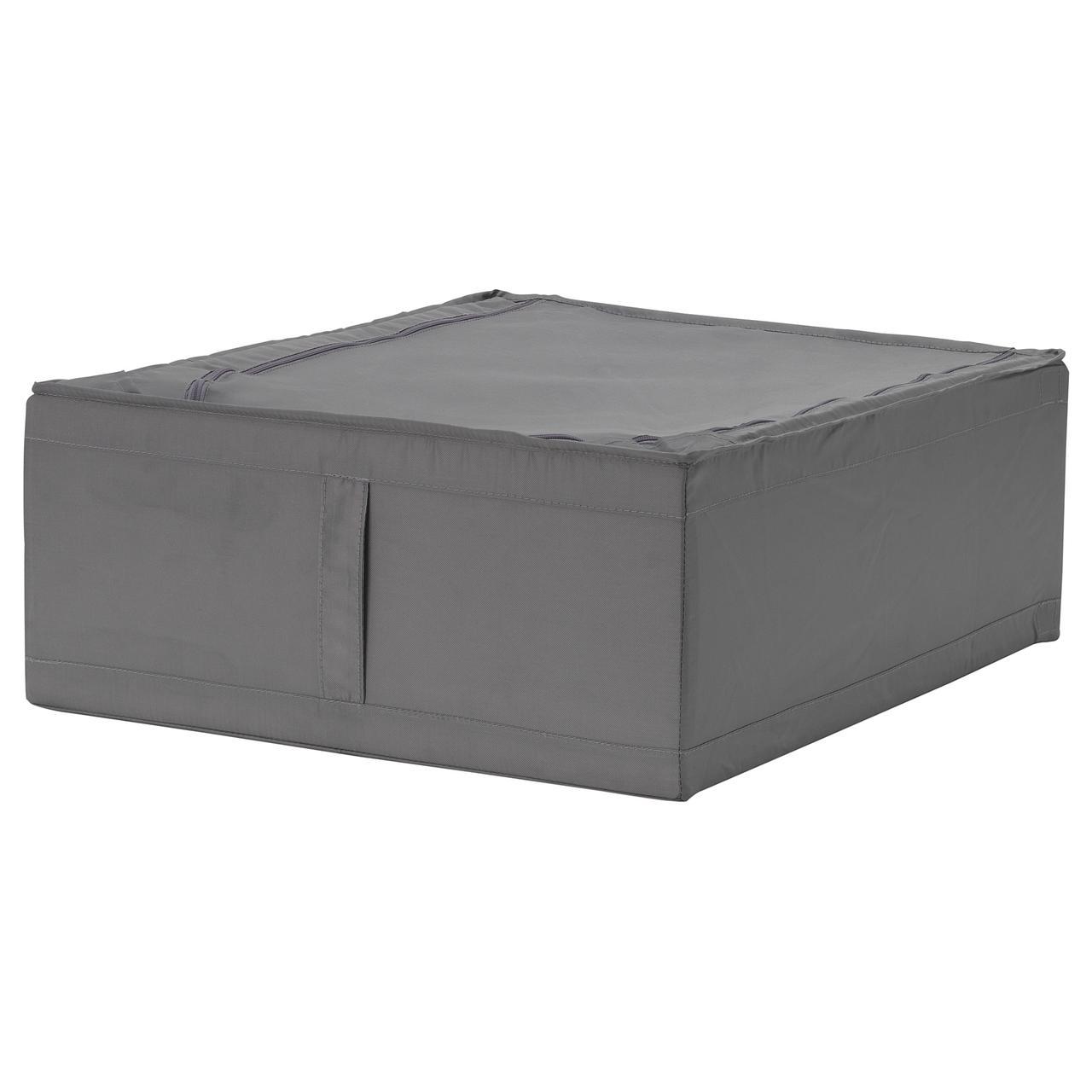 Контейнер для хранения одежды IKEA SKUBB 44x55x19 см темно-серый 203.999.99