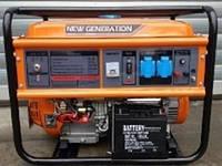 Бензогенератор New Generation NG5500Е (5.0 - 5.5 кВт, электростартер, 13 л.с.)