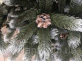 ЕЛЬ искусственная  литая высота 1,8м новогодняя  Снег+Шишки