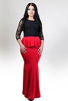 Платье женское больших размеров батал 1517 Ян   $