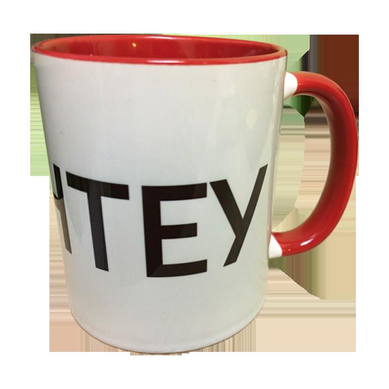"""Чашка """"красная"""" с нанесением логотипа, фотографии, надписи"""
