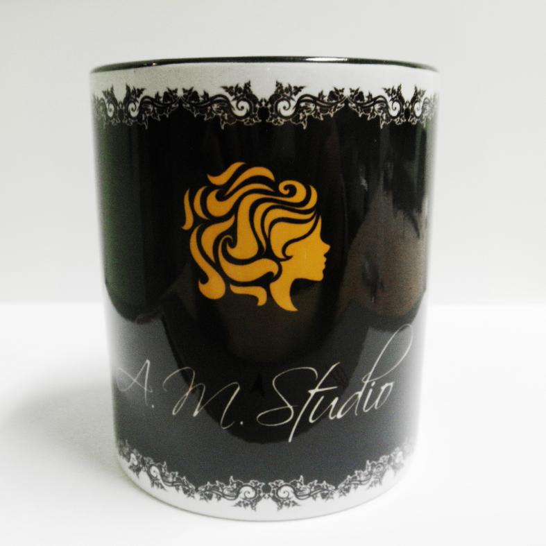 """Чашка (кружка) """"черная"""" с нанесением логотипа, фотографии, надписи"""