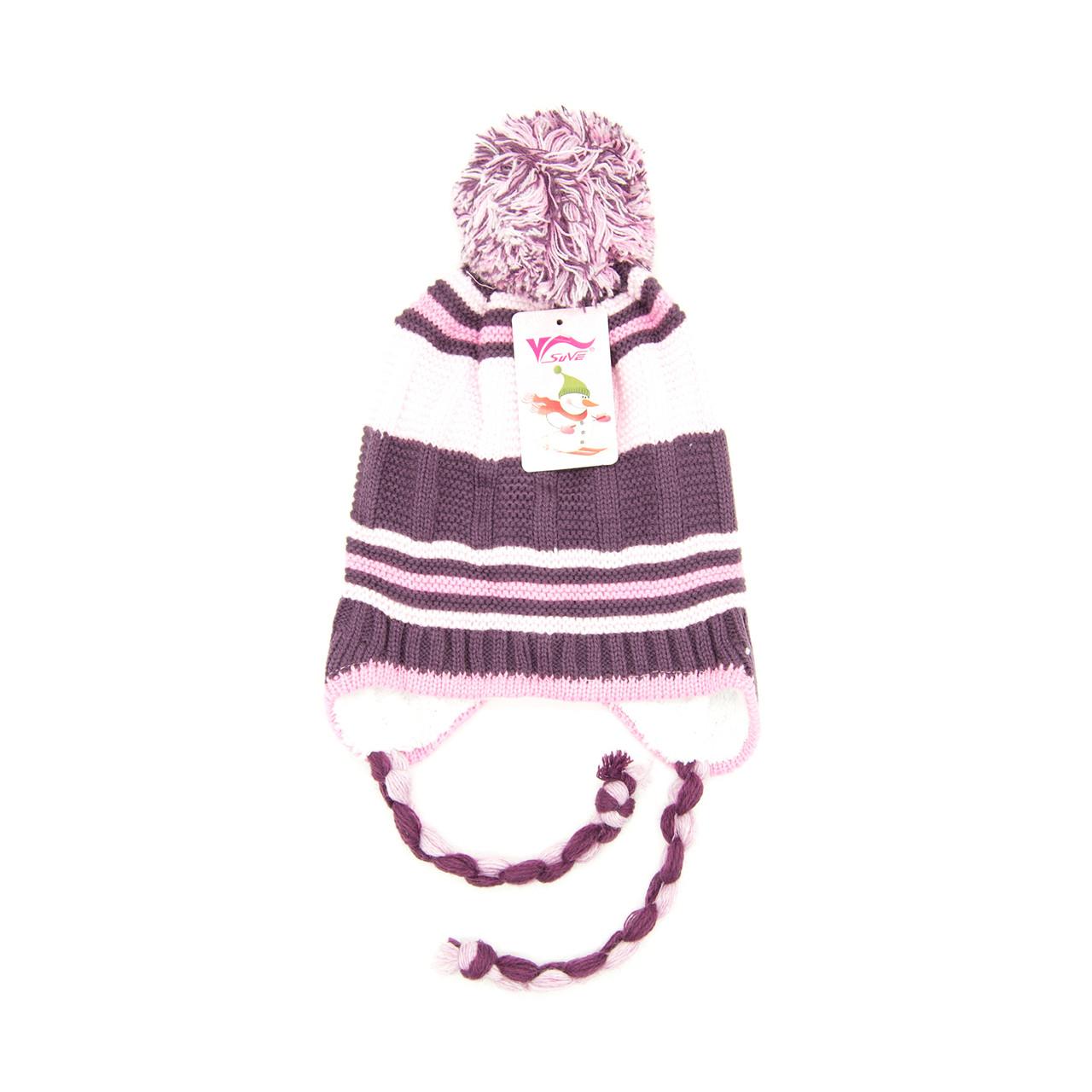 Шапка Детская 3-6 лет Розово-бордовый