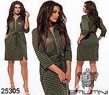 Модное теплое трикотажное платье на каждый день Производитель ТМ Balani размер 52,54,56,58, фото 4