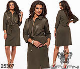 Модное теплое трикотажное платье на каждый день Производитель ТМ Balani размер 52,54,56,58, фото 3