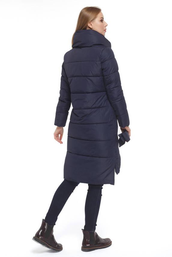 Женская стильная зимняя куртка синяя, фото 2