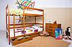 Кровать двухъярусная Дисней из массива дерева., фото 2