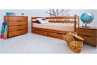 Кровать детская, подростковая из массива дерева-Ева, с шухлядами. (0,8*1,9)