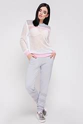 Костюм женский (светло-серый/розовый)