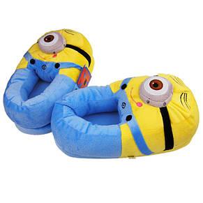 Плюшевые тапочки-игрушки Миньоны из мультфильма Гадкий Я (Посіпаки), фото 2