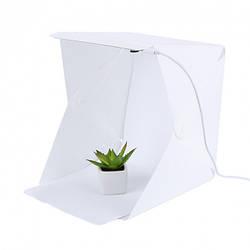 Световой лайткуб (фотобокс) MihTech с LED подсветкой для предметной макросъемки 40х40х40 см +  чехол