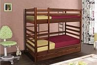 Кровать двухъярусная Засоня из массива дерева.