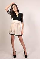 женское платье +в интернет магазине Марсель Ян  $ беж и белый низ