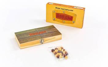 Нарды настольная игра деревянные NN-6 (24см x 24см)