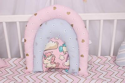 Подушка игрушка в детскую кроватку радуга