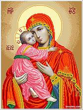 БВ-В Богородица Владимирская (большая). Набор для вышивания бисером