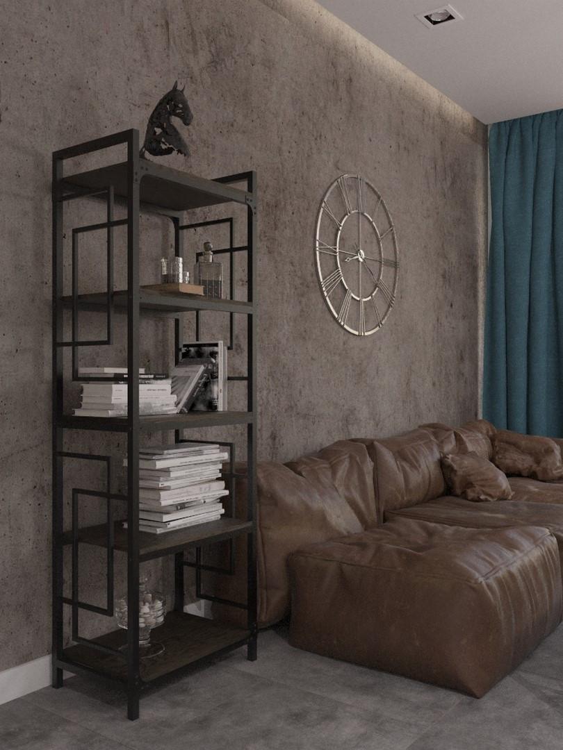 Стеллаж металлический на пять полок в стиле loft серии Квадро Металл-Дизайн