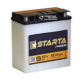 Аккумулятор для мотоциклов Starta Moto 6мтс9 С 80 А с круглыми клеммами   EN70 (Европа)