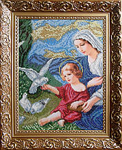 Богородиця і голуби. Набір для вишивання бісером