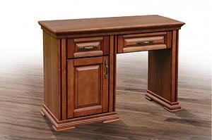 Трюмо-туалетный столик из массива ольхи- Маргаритта. Цвет орех.