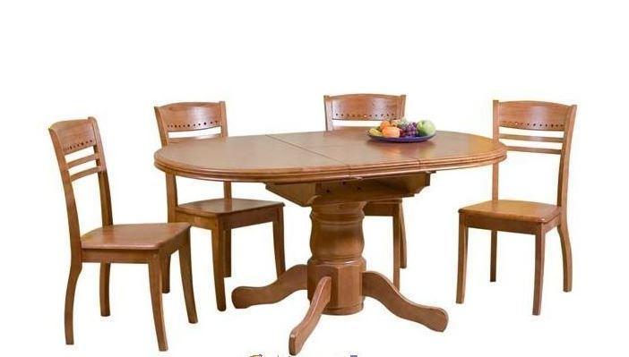 Раздвижной деревянный стол А-17, цвет ольха  1200 (+300) х 900 х 750мм