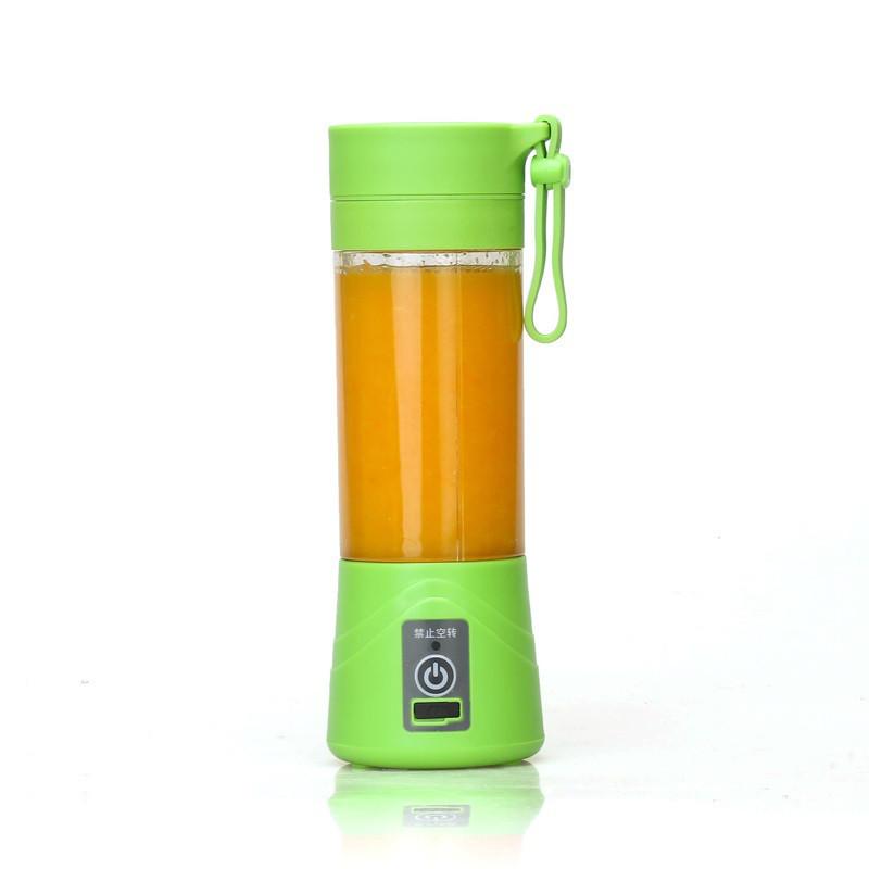 Портативний акумуляторний блендер SUNROZ Smoothie Maker для приготування смузі 380 мл Зелений (SUN1216)