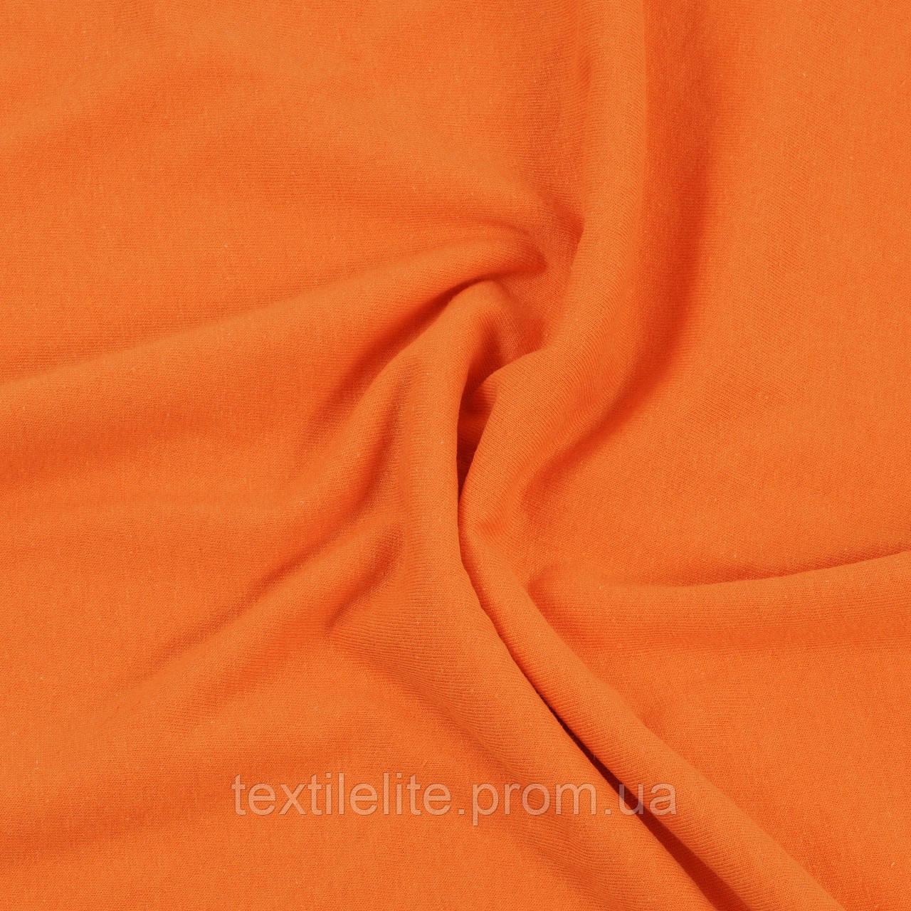 Кулирная гладь оранжевый, оптом, Турция, хлопоковая 100%