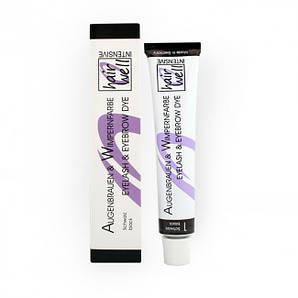 Фарба для вій і брів HairWell чорна
