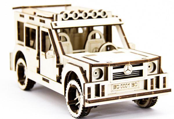 Механический деревянный 3D пазл SUNROZ Автомобиль Mercedes Benz G Class 105 эл. (SUN1740)
