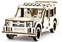 Механический деревянный 3D пазл SUNROZ Автомобиль Mercedes Benz G Class 105 эл. (SUN1740), фото 2