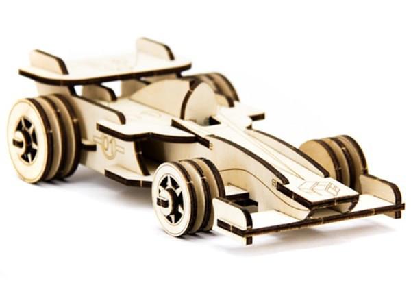Механический деревянный 3D пазл SUNROZ Формула-1 39 эл. (SUN1744)