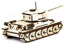 Механический деревянный 3D пазл SUNROZ Танк T-34 127 эл. (SUN1750), фото 2