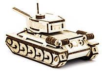 Механический деревянный 3D пазл SUNROZ Танк T-34 127 эл. (SUN1750), фото 3