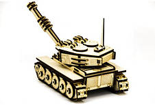 Механический деревянный 3D пазл SUNROZ Танк М-60 105 эл. (SUN1751), фото 3