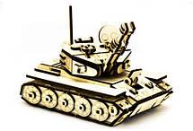 Механический деревянный 3D пазл SUNROZ Танк М-60 105 эл. (SUN1751), фото 2