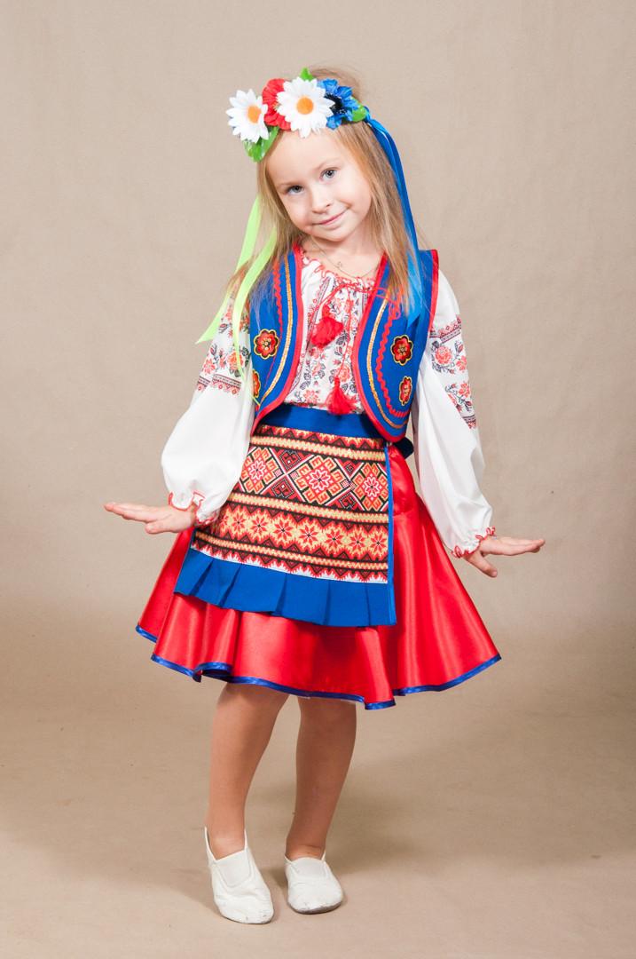 Карнавальный костюм УКРАИНКА (СЛАВЯНОЧКА) на 5,6,7,8,9,10,11, украинский национальный костюм УКРАИНОЧКА 329