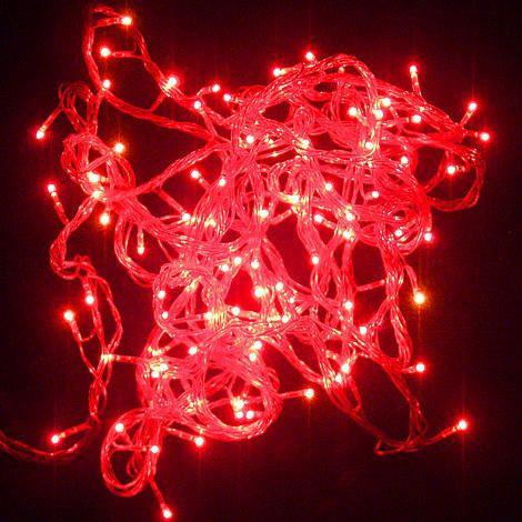 Гирлянда светодиодная 200 ламп (LED) красный