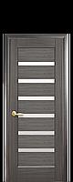 Межкомнатная дверь  Линнея ПВХ DeLuxe с матовым стеклом,цвет серый