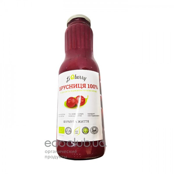 Брусничная органическая ягодная паста LiQberry 1л
