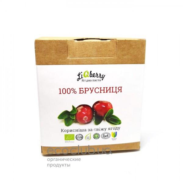 Брусничная органическая ягодная паста LiQberry 550г