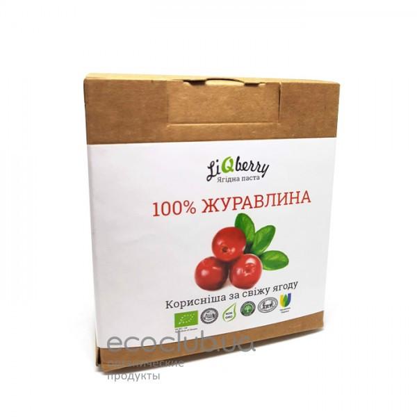 Клюквенная органическая ягодная паста LiQberry 550г