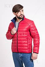 Демисезонная мужская куртка T-101 красного цвета (#379) 60 размер