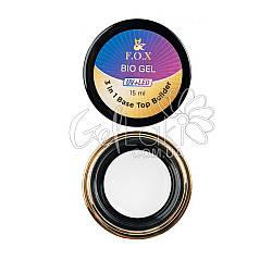 Прозрачный био-гель F.O.X Bio gel (3 in 1 Base/Top/Builder) UV+LED, 15 мл