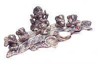 9070306 Фигура алтарная Ганеш Пуджа (5 Ганешей) силумин