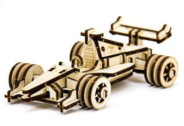 Механический деревянный 3D пазл SUNROZ Спортивный болид 68 эл. (SUN1743)