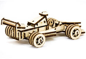 Механический деревянный 3D пазл SUNROZ Спортивный болид 68 эл. (SUN1743), фото 2