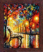 Репродукция  современной картины  «Вечер в парке» 28 х 35 см